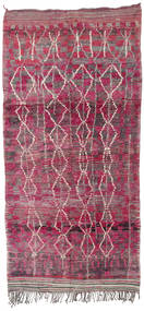 Berber Moroccan - Mid Atlas Rug 180X380 Authentic  Modern Handknotted Hallway Runner  Light Purple/Purple (Wool, Morocco)