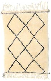 Berber Moroccan - Beni Ourain Matto 75X108 Moderni Käsinsolmittu Beige (Villa, Marokko)