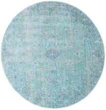Maharani - Bleu Tapis Ø 150 Moderne Rond Bleu Clair/Bleu Turquoise ( Turquie)