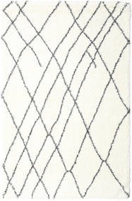 Shaggy Tangier - Bianco/Grigio Scuro Tappeto 200X300 Moderno Beige ( Turchia)