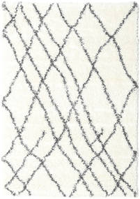Shaggy Tangier - White/Dark Grey Rug 140X200 Modern Beige/Light Grey ( Turkey)