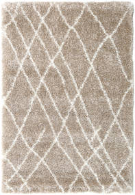 Shaggy Tangier - Beige/Blanc Tapis 140X200 Moderne Gris Clair/Beige ( Turquie)