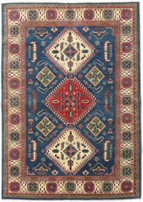 Kazak Vloerkleed 170X236 Echt Oosters Handgeknoopt Donkerblauw/Lichtgrijs (Wol, Pakistan)