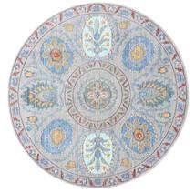 Orion - Gris Tapis Ø 150 Moderne Rond Gris Clair/Bleu Clair ( Turquie)