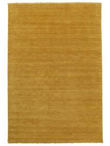 ハンドルーム Fringes - 黄色 絨毯 100X160 モダン 薄茶色/オレンジ (ウール, インド)