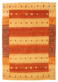 Gabbeh Indie Dywan 143X208 Nowoczesny Tkany Ręcznie Pomarańczowy/Jasnobrązowy (Wełna, Indie)