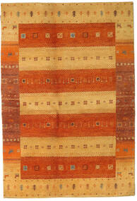 Gabbeh Indo Rug 140X207 Authentic  Modern Handknotted Rust Red/Light Brown/Orange (Wool, India)