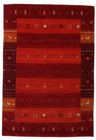 Gabbeh Indo Matto 137X198 Moderni Käsinsolmittu Tummanpunainen/Ruoste (Villa, Intia)