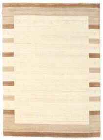 Gabbeh Indo Rug 175X242 Authentic  Modern Handknotted Beige/White/Creme (Wool, India)