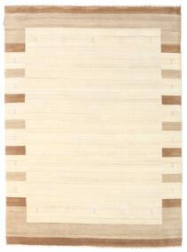 Gabbeh Indisch Teppich  175X242 Echter Moderner Handgeknüpfter Beige/Weiß/Creme (Wolle, Indien)