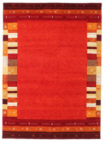 Gabbeh Indo Rug 173X242 Authentic  Modern Handknotted Rust Red/Dark Red (Wool, India)