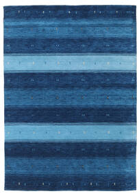 Gabbeh Indo Rug 164X227 Authentic  Modern Handknotted Dark Blue/Light Blue (Wool, India)