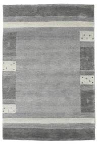 Gabbeh Indo Rug 121X179 Authentic Modern Handknotted Dark Grey/Light Grey (Wool, India)