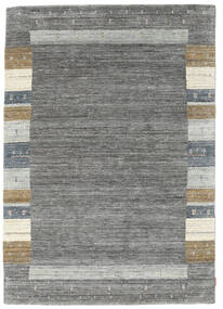 Gabbeh Indo Rug 168X239 Authentic  Modern Handknotted Dark Grey/Light Grey (Wool, India)