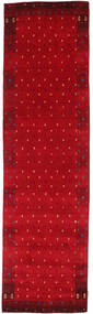 Gabbeh Indiaas Vloerkleed 82X296 Echt Modern Handgeknoopt Tapijtloper Rood/Donkerrood (Wol, India)