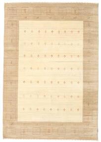 Gabbeh Indo Rug 169X242 Authentic  Modern Handknotted Beige/Dark Beige (Wool, India)