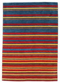 Gabbeh Indie Dywan 168X240 Nowoczesny Tkany Ręcznie Ciemnoniebieski/Rdzawy/Czerwony (Wełna, Indie)