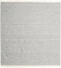 Melange - Grau Teppich 300X300 Echter Moderner Handgewebter Quadratisch Hellgrau/Beige Großer (Wolle, Indien)