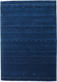 Gabbeh Indo Rug 206X298 Authentic  Modern Handknotted Dark Blue (Wool, India)