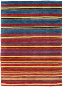 Gabbeh Indisch Teppich  170X238 Echter Moderner Handgeknüpfter Rot/Dunkelblau (Wolle, Indien)