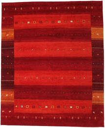 Gabbeh Indo Rug 252X307 Authentic  Modern Handknotted Rust Red/Dark Red Large (Wool, India)