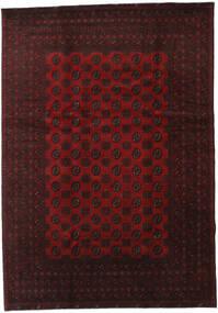 Afghan Matto 199X283 Itämainen Käsinsolmittu Tummanruskea/Tummanpunainen (Villa, Afganistan)