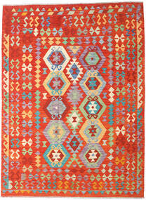 Kilim Afghan Old Style Rug 177X240 Authentic  Oriental Handwoven Orange/Rust Red (Wool, Afghanistan)