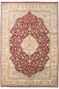 Tabriz Royal Rug 186X277 Authentic Oriental Handknotted Light Brown/Light Pink ( Pakistan)