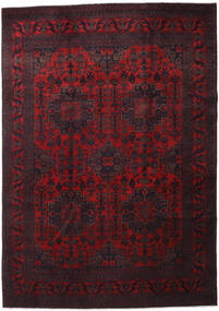Afghan Khal Mohammadi Rug 205X292 Authentic  Oriental Handknotted Dark Red (Wool, Afghanistan)