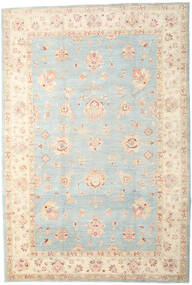 Ziegler Rug 207X304 Authentic Oriental Handknotted Light Grey/Yellow (Wool, Pakistan)