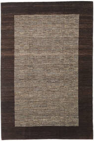Gabbeh Indo Rug 196X293 Authentic  Modern Handknotted Dark Brown/Brown (Wool, India)