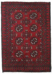 Afghan Covor 79X112 Orientale Lucrat Manual Roșu-Închis/Maro Închis (Lână, Afganistan)