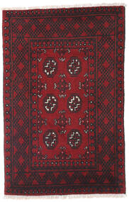 Afghan Rug 78X119 Authentic  Oriental Handknotted Dark Red/Black (Wool, Afghanistan)