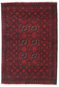 Afghan Rug 77X111 Authentic  Oriental Handknotted Dark Red/Black (Wool, Afghanistan)