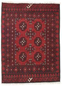 Afghan Matto 80X108 Itämainen Käsinsolmittu Tummanpunainen/Tummanruskea (Villa, Afganistan)