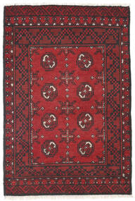 Afghan Rug 79X116 Authentic  Oriental Handknotted Dark Red/Crimson Red (Wool, Afghanistan)