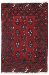 Afghan Rug 80X118 Authentic  Oriental Handknotted Dark Red/Black (Wool, Afghanistan)