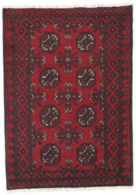 Afgan Dywan 78X119 Orientalny Tkany Ręcznie Ciemnoczerwony/Czarny/Ciemnobrązowy (Wełna, Afganistan)