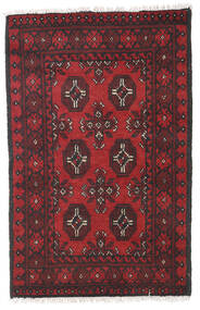 Afghan Rug 76X118 Authentic  Oriental Handknotted Dark Red/Black (Wool, Afghanistan)