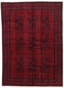 Belutsch Teppich 195X270 Echter Orientalischer Handgeknüpfter Dunkelrot/Dunkelbraun (Wolle, Afghanistan)