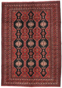 Baluch Rug 200X290 Authentic  Oriental Handknotted Dark Red/Black (Wool, Afghanistan)