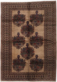 Baluch Rug 205X295 Authentic  Oriental Handknotted Dark Brown/Brown (Wool, Afghanistan)