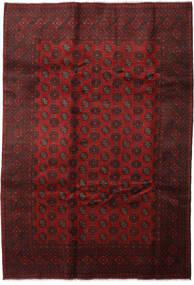 Afgan Dywan 201X290 Orientalny Tkany Ręcznie Ciemnoczerwony (Wełna, Afganistan)