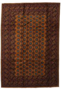 Afghan Rug 202X294 Authentic  Oriental Handknotted Dark Red/Brown (Wool, Afghanistan)