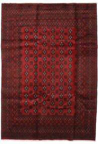 Afghan Rug 199X282 Authentic  Oriental Handknotted Dark Red/Dark Brown (Wool, Afghanistan)