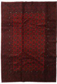 Afghan Tæppe 198X285 Ægte Orientalsk Håndknyttet Mørkerød (Uld, Afghanistan)