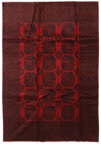 Afgan Dywan 203X292 Orientalny Tkany Ręcznie Ciemnoczerwony/Czerwony (Wełna, Afganistan)