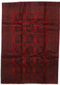 Afghan Rug 205X289 Authentic  Oriental Handknotted Dark Red/Crimson Red (Wool, Afghanistan)
