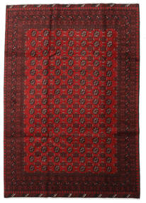 Afghan Rug 197X281 Authentic  Oriental Handknotted Dark Red/Crimson Red (Wool, Afghanistan)