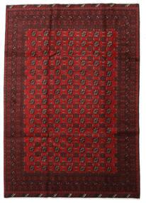 Afghan Teppich  197X281 Echter Orientalischer Handgeknüpfter Dunkelrot/Rot (Wolle, Afghanistan)